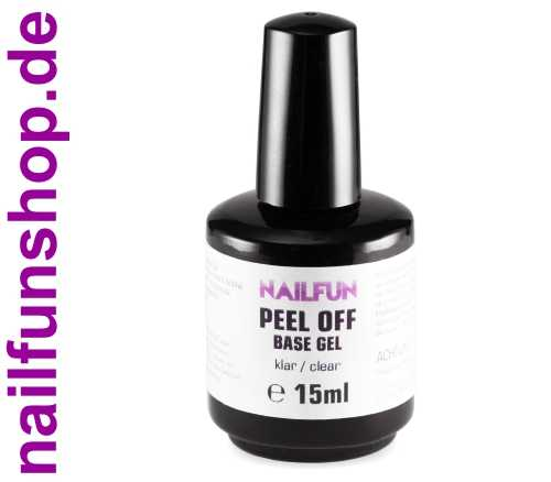 PEEL-OFF Base Gel - 15ml - UV + LED - ablösbares Basis-Gel
