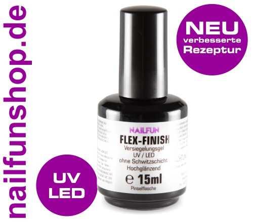 Flex-Finish Versiegelungsgel hochglänzend ohne Schwitzschicht 15ml