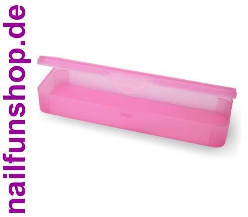 Hygiene-Box Kundenbox Feilenbox Arbeitsmaterial-Box pink 220x65x35 mm LxBxH