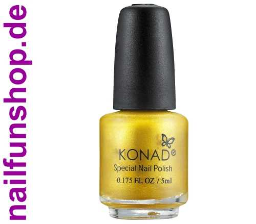 KONAD Small Nail Stamping Lack Gold, 1er Pack, 5ml