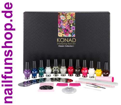 KONAD Classic Collection I - Professionelles Stamping Set