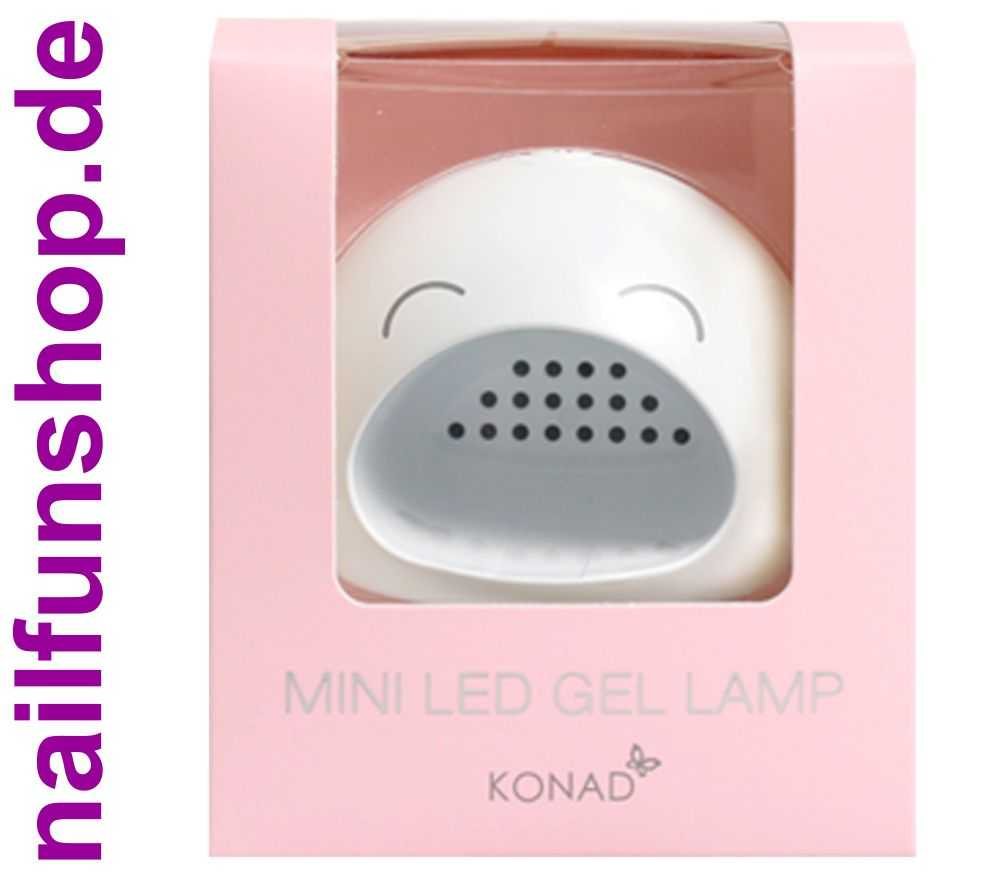 konad mini led gel lampe 3 watt timer mit usb anschlusskabel. Black Bedroom Furniture Sets. Home Design Ideas