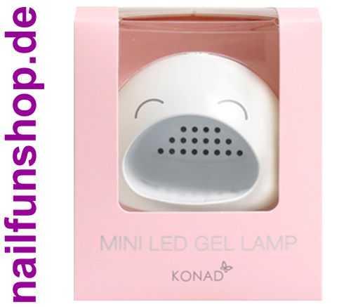 KONAD Mini LED Gel Lampe - 3 Watt - Timer - mit USB Anschlusskabel