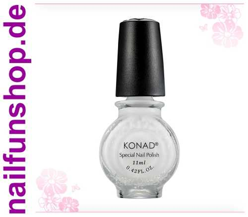 KONAD Stamping Lack S01 Weiss, 1er Pack, 11ml