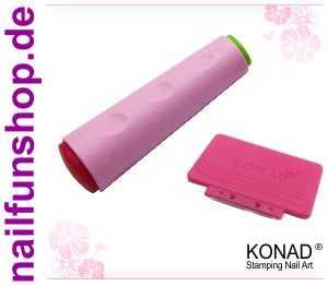 KONAD Doppel-Stempel und XL Scrapper Schaber - Double Side Stamp-Set