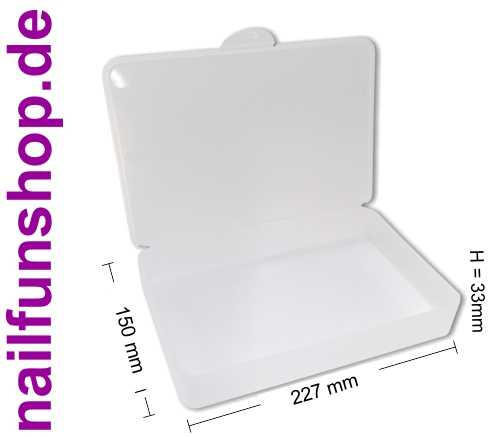 Feilenbox Arbeitsmaterial-Box Utilitybox L-Case transparent 227x150x40 mm LxBxH