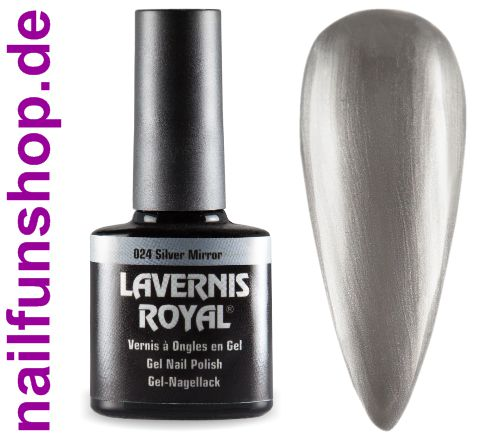 LAVERNIS ROYAL 3in1 Gel Nagellack - 024 Silver Mirror