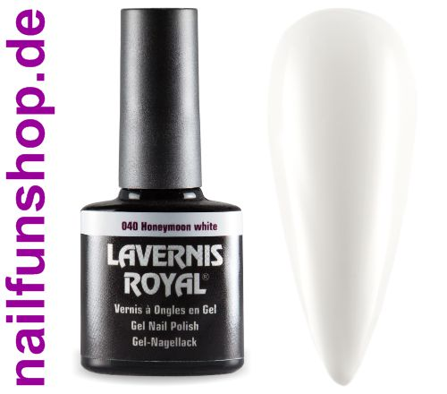 LAVERNIS ROYAL 3in1 Gel Nagellack - 040 Honeymoon White