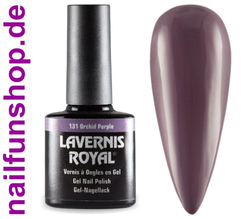 LAVERNIS ROYAL 3in1 Gel Nagellack - 131 Orchid Purple
