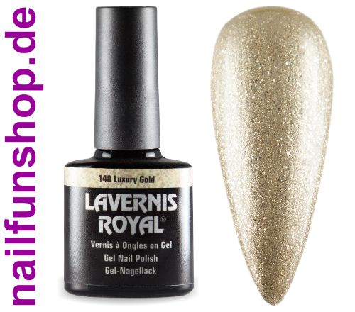 LAVERNIS ROYAL 3in1 Gel Nagellack - 148 Luxury Gold