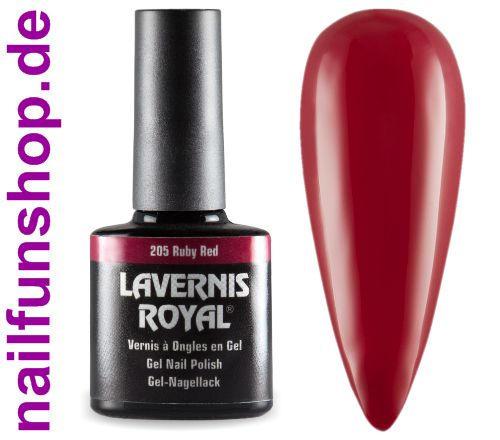 LAVERNIS ROYAL 3in1 Gel Nagellack - 205 Ruby Red