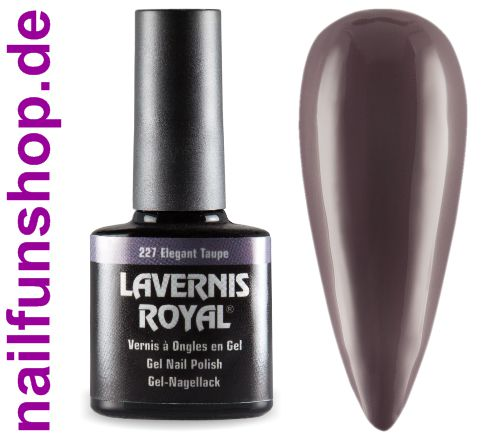 LAVERNIS ROYAL 3in1 Gel Nagellack - 227 Elegant Taupe