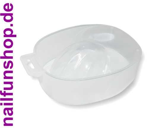 Maniküreschale transparent ergonomisch geformt Handbad