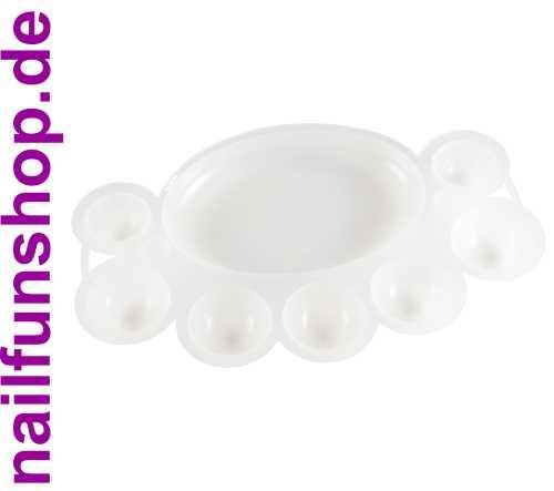 Mischpalette aus Plastik (klar-milchig) zum anmischen von Gelen, Acryl, Farben