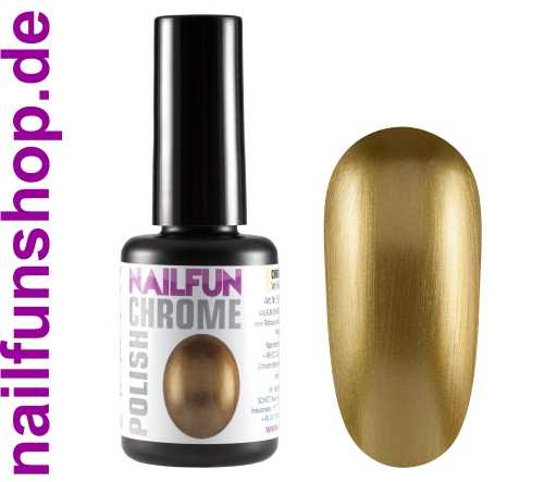 CHROME POLISH GOLD - 15ml - Metall Mirror Effekt Nagellack