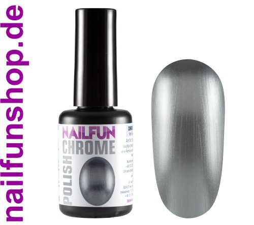 CHROME POLISH SILVER - 15ml - Metall Mirror Effekt Nagellack