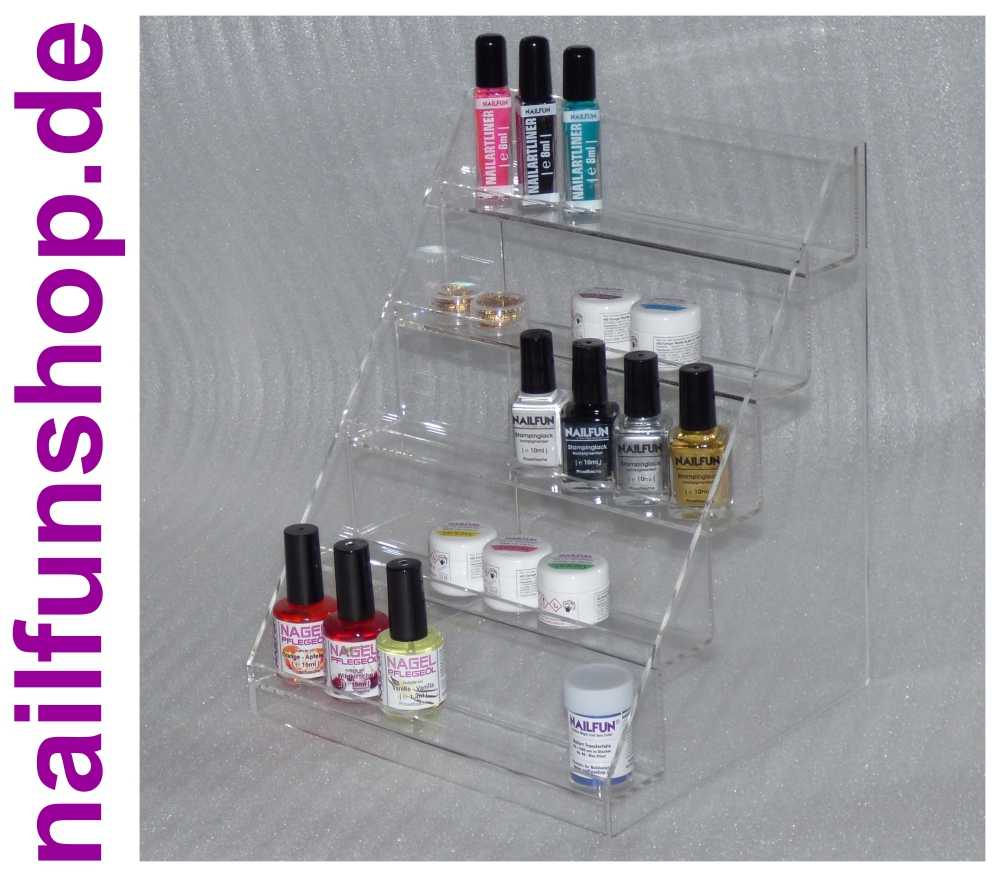 nagellack st nder aus stabilem transparentem acrylglas mit. Black Bedroom Furniture Sets. Home Design Ideas