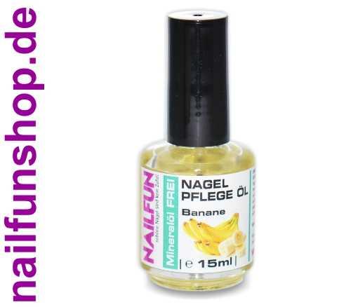 Nagelhautpflegeöl Mineralöl FREI - Banane - 15ml in der Glas-Pinselflasche