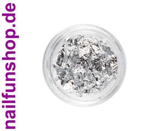 1 Döschen Nailart Silberfolie - hauchdünne Edelmetallfolie