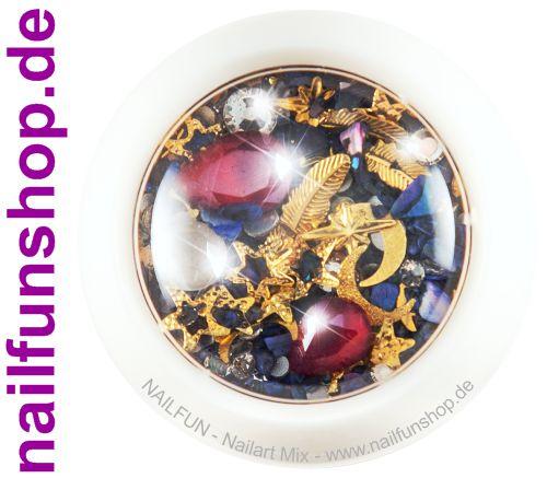 1 Döschen Nailart Mix (4001) -  Einleger Overlay Strass Perlen Charms