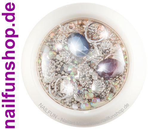1 Döschen Nailart Mix (4007) - Einleger Overlay Strass Perlen Charms