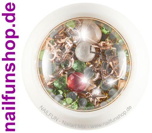 1 Döschen Nailart Mix (4015) - Einleger Overlay Strass Perlen Charms
