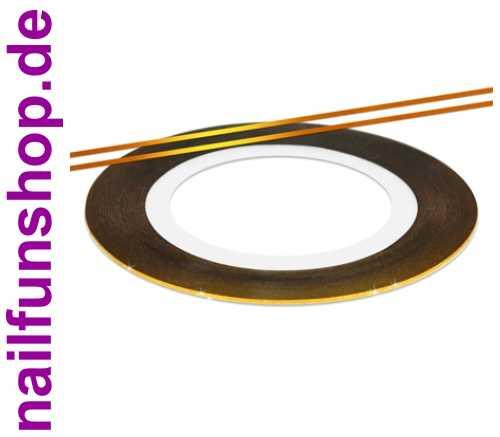 Nailart Striping Tape -- gold -- 1 Rolle mit ca. 10 Meter Zierstreifen