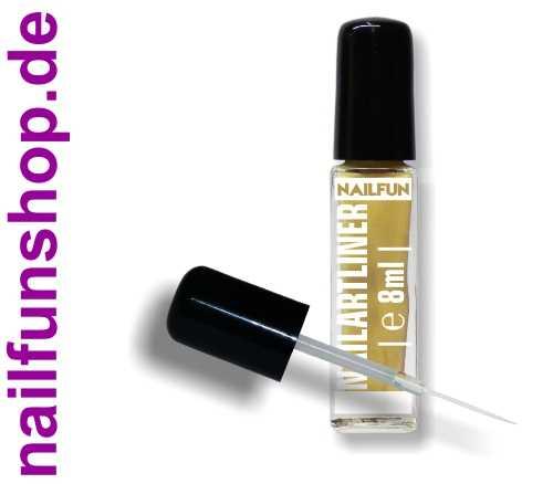 Nailartliner 30 gold effect 8ml mit langem dünnen Pinsel in Glasflasche