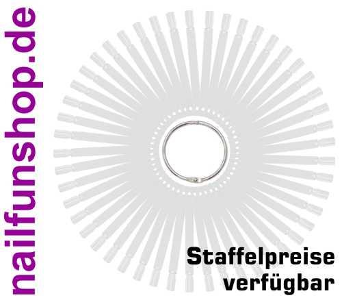 Tipfächer klar mit 50 Präsentations Stäbchen (Tip-Stäbchen) und Metallring