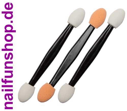 3er Set Applicator Schwamm Stäbchen für Pigmente, Flakes usw.