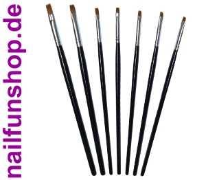 7-teiliges Echthaar Pinselset - 7 Gelpinsel in verschiedenen Formen und Größen