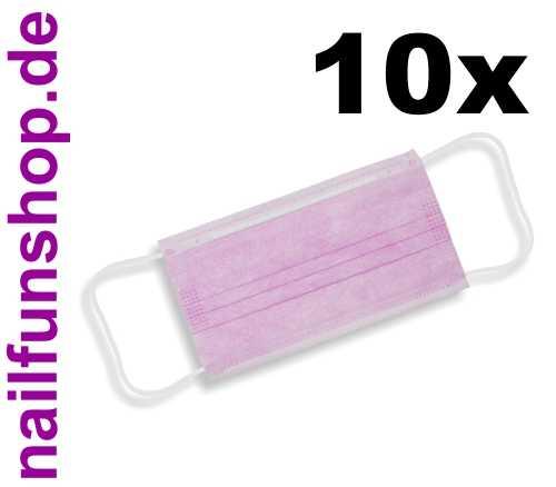 10 Stück Staubschutz-Masken Pastell-Rosa