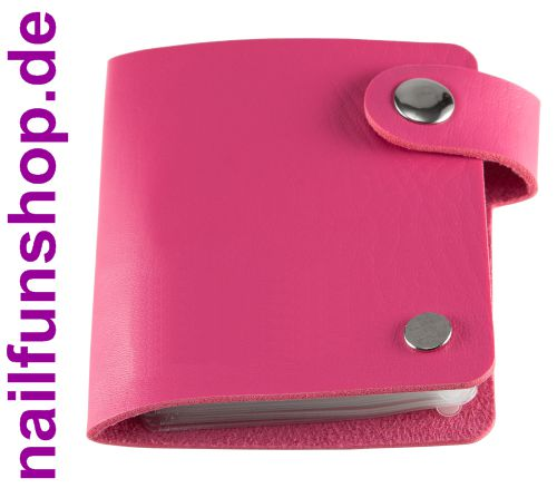 Aufbewahrungstasche Mäppchen für bis zu 24 Stamping-Schablonen in pink (leer)