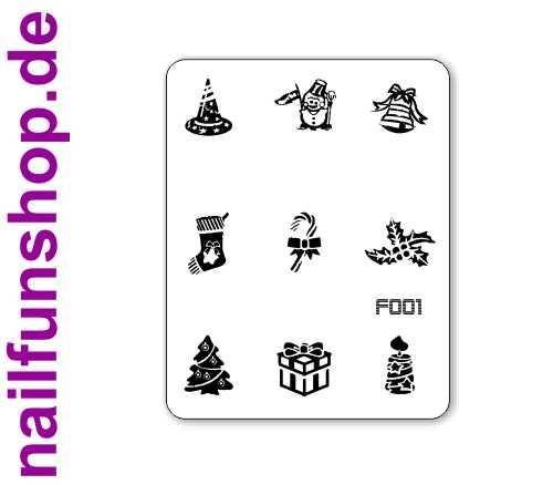 Stamping Schablone XMAS F001 - Weihnachten Christmas