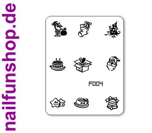 Stamping Schablone XMAS F004 - Weihnachten Christmas