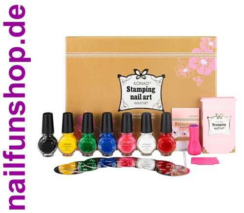 "KONAD® Nailart Stamping Set ""GOLD EDITION"""
