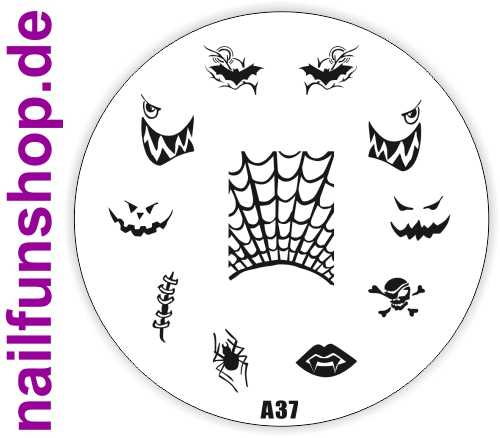 Stamping Schablone A37 - Halloween