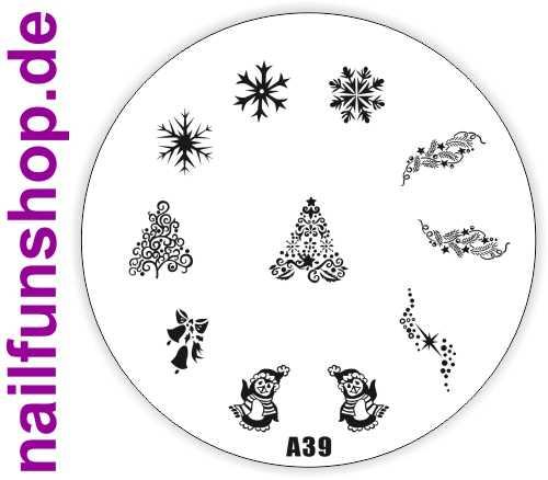 Stamping Schablone A39 - Weihnachten Christmas XMAS