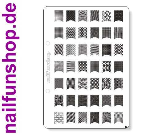 NAILFUN XL Stamping Schablone A DIN A5 Stamping-Schablone A