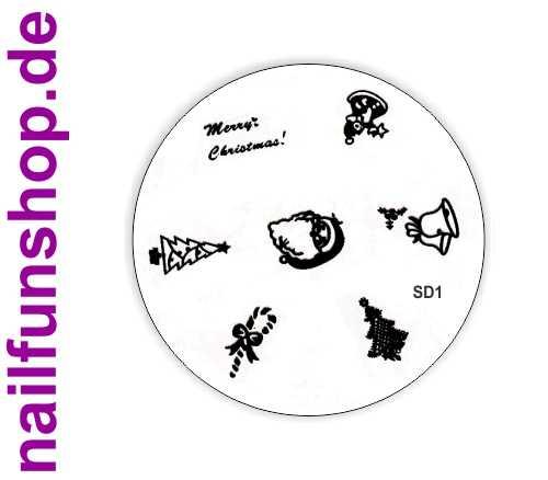 Stamping Schablone XMAS SD1 - Weihnachten Christmas