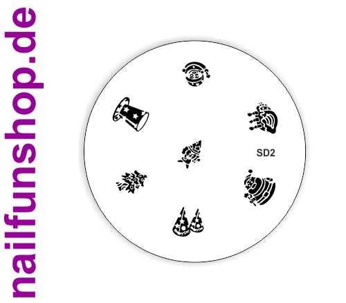 Stamping Schablone XMAS SD2 - Weihnachten Christmas