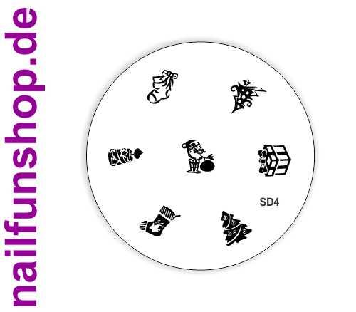 Stamping Schablone XMAS SD4 - Weihnachten Christmas