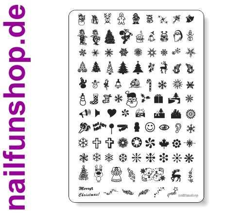 Maxi Stamping Schablone nfxmas01 - Weihnachten mit über 100 Motiven