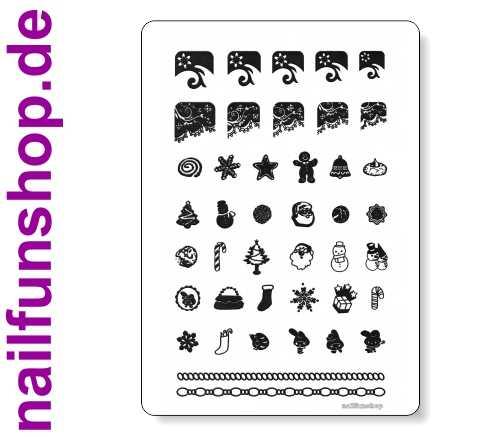 Big-Size Stamping Schablone nfxmas04 - Weihnachten mit 42 Motiven