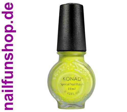 KONAD Stamping Lack NEON-GELB, 1er Pack, 11ml