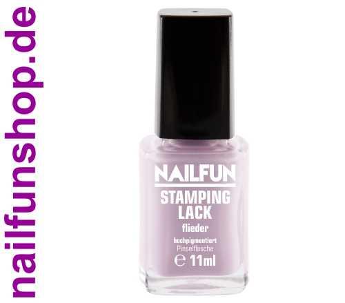 NAILFUN Stampinglack Flieder 11ml in der Glas Pinselflasche