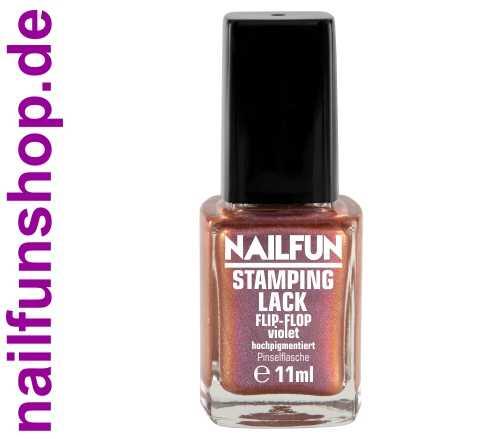 NAILFUN Stampinglack Flip Flop Violet 11ml in der Glas Pinselflasche
