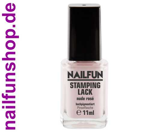 NAILFUN Stampinglack Nude-Rose 11ml in der Glas Pinselflasche