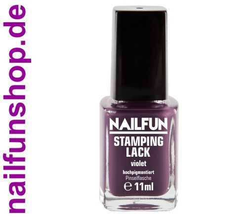 NAILFUN Stampinglack Violet 11ml in der Glas Pinselflasche