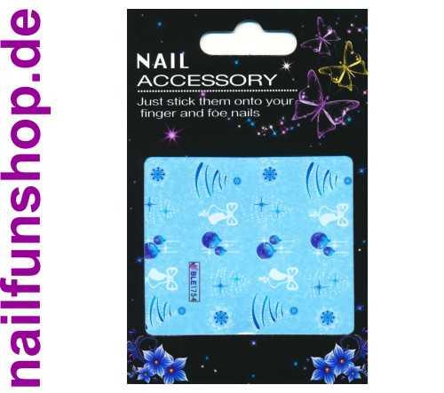 1 Bogen One Stroke Sticker BLE1754 Nailsticker Weihnachten Christmas Nail-Tattoo